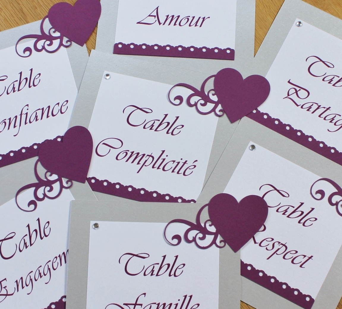 Cartes noms de tables atelier graines d 39 id es - Idee nom de table mariage ...