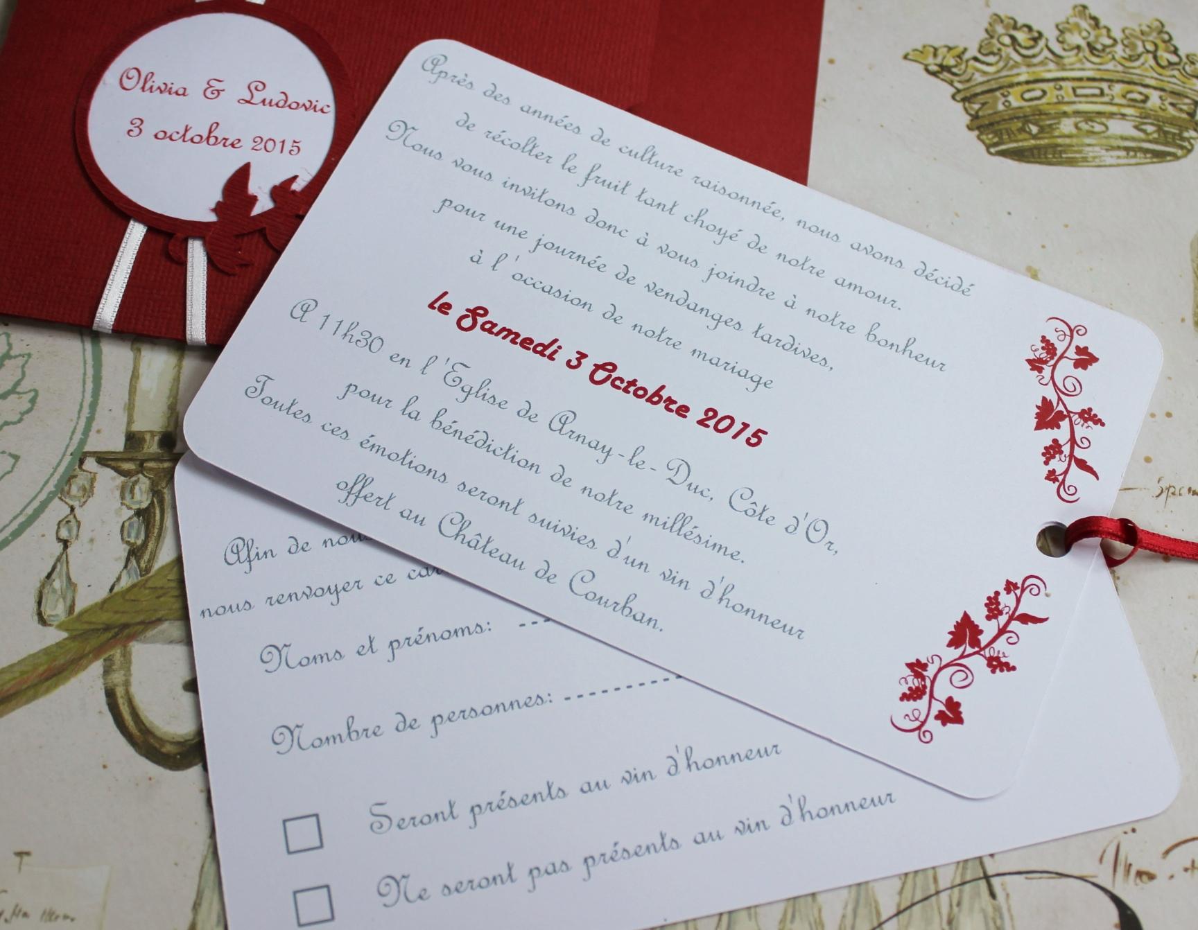 Bien-aimé faire-part mariage | atelier graines d'idées OA78